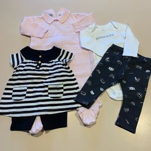 Bundle of 3 baby girl outfits Size 9 Months